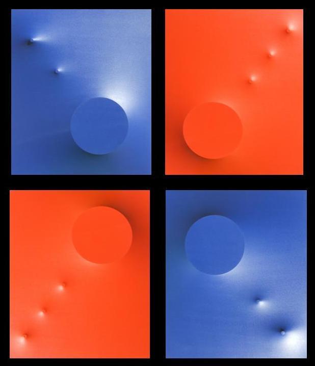 Spazio blu e arancio
