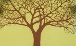 Albero fondo giallo