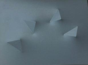 Delta acrobatici acrilico su tela Estoflessa bianca 58 X 43