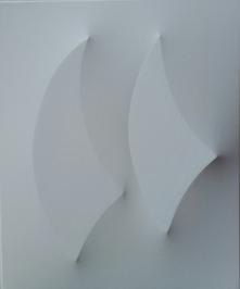 Vele in competizione acrilico su tela estroflessa 55 x 45